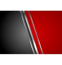 Contrast red black tech background vector image vector image