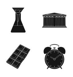 Education cooking and or web icon in black style vector