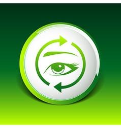Eyelashes eyebrows eyelash eye icon makeup vector