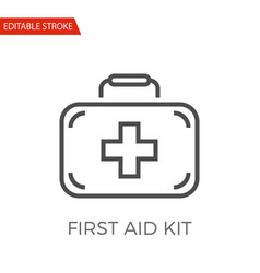 first aid kit icon vector image