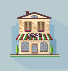flat style modern icon design of pizza cafe vector image