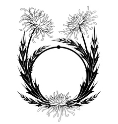 frame with chrysanthemum vector image