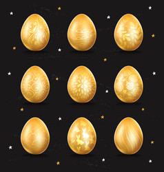 golden egg icon vector image