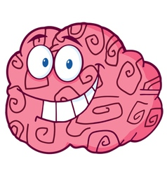 Happy Brain Cartoon vector image vector image