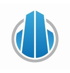 House logo design Creative real estate symbol or vector image vector image
