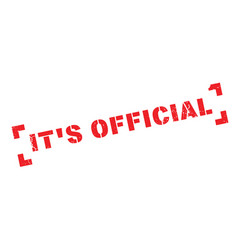 it s official rubber stamp vector image