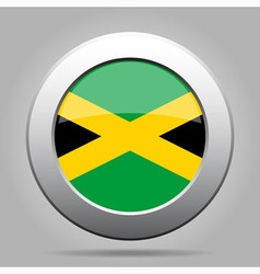 metal button with flag of Jamaica vector image vector image