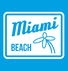 Miami beach icon white vector