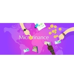 Microfinance micro financial solution social vector