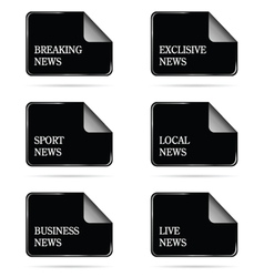 news file icon vector image vector image