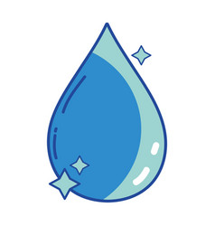 Nice water drop with stars design vector