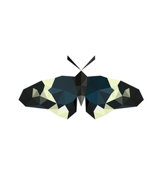 origami butterfly isolated on white background vector image vector image