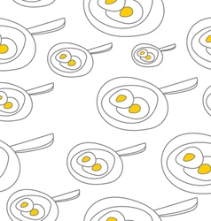 Pattern eggs vector image