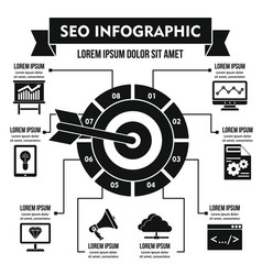 Seo infographic concept simple style vector
