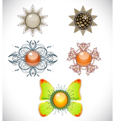 Set with brooches vector