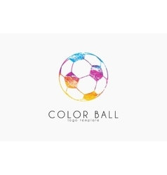 soccer mall logo colorful soccer ball crative vector image