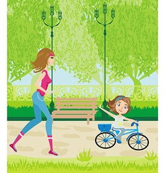 Sport in the park vector