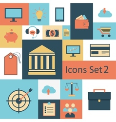 Universal Outline Icons For Web and Mobile vector image