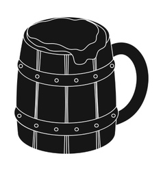 Viking ale icon in black style isolated on white vector