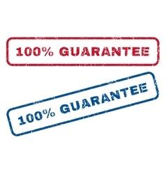 100 percent guarantee rubber stamps vector