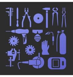 Metaworking icons set vector image