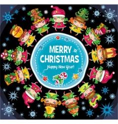 christmas planet vector image