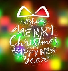 Merry christmas card holiday vector