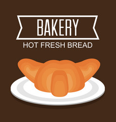Delicious bread product icon vector