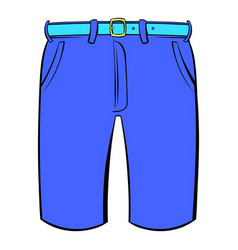 Men shorts icon cartoon vector