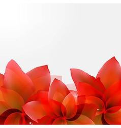 Borders of abstract red tulips vector