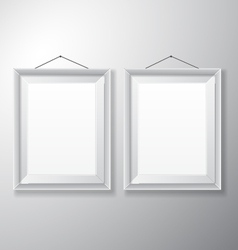Picture frames white vertical vector