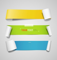 Colorful paper roll long collections design vector