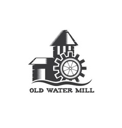 old water mill vintage vector image