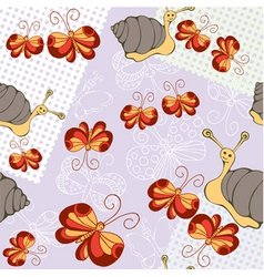 Butterfly and snails vector