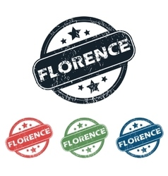 Round florence city stamp set vector