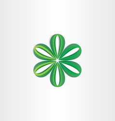 Green leaves flower decoration vector