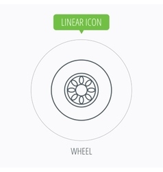 Car wheel icon automobile service sign vector