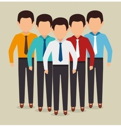 Human resources and teamwork vector