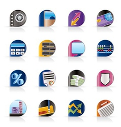 Business and finance icons vector