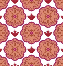 Pattern maroon flowers vector
