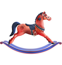 Rocking horse realistic vector