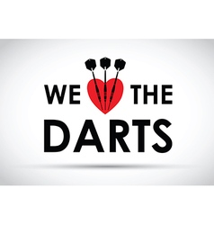 We love the darts vector