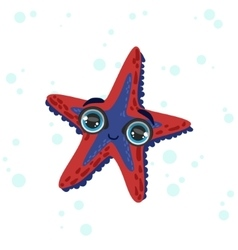 Starfish isolated drawing vector