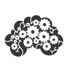 Brain storming mind icon vector