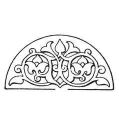 Arabian lunette panel is a semi-circle design vector