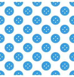 Blue seamless pattern made of buttons vector
