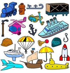 Cartoonish objects vol 2 vector