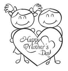 collection of mother day theme vector image