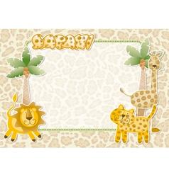 Cute safari wallpaper vector image vector image