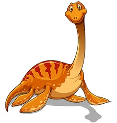 Dinosaur with long neck vector